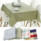 New Cotton Plaid Tablecloth Rectangle Dining Table Cloth Cover Home Decor