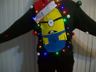 """Lite UP Ugly Christmas Sweater Men Fun Minions Holiday Sweatshirt """" with lights"""