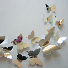 3D Butterfly Wall Stickers & Magnetic Decals Home Decor Room Decoration 12pcs