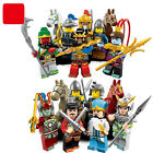 Lot of 16 pcs Castle Three King Knight minifigures building block toys in bags