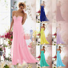 New Long Formal Chiffon Ball Gown Party Evening Bridesmaid Prom Dress size 6-26