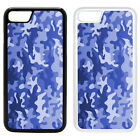 Army Camo Camoflage Printed PC Case Cover - Blue - S-G1256