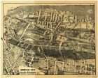 Maplewood, N.J., 1870's, Town View, 1800's, Old Map Print