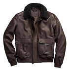 New Coach Men's Bleecker 100% Leather Aviator Jacket Coat 84100 Mahogany $998
