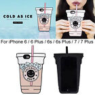 Cute Cold Brew Bitch Cup Silicone Case Back Cover Skin for iPhone 7 6s Plus Gift