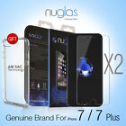 2 x Genuine NUGLAS Tempered Glass Screen Protector for iPhone 7 / 7 Plus+ Cable