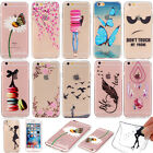 Transparent Slim Rubber Soft TPU Silicone Pattern Back Case Cover For Phones New