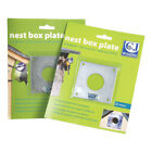 Nest Box Protection Plate for Bird Boxes. Metal. Sizes 28mm and 32mm