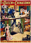 Old Vintage Theatre Poster Queen of Chinatown, Fade Resistant HD Print or Canvas