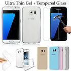 Tpu Gel Case + Tempered Glass Screen Protector For Samsung 2016 A3, A5, J5, S7