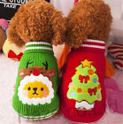 Puppies Christmas Warm Clothing with Christmas Tree Elk Knitted