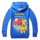 Cute Kids Boys Girls POKEMON Hoodies Coat Hooded Cartoon Long Sleeve Top Clothes