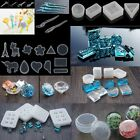 DIY Silicone Jewelry Crystal Pendant Making Mould Resin Necklace Hand Craft Tool