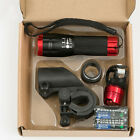 Bike Bicycle Front Head Light Flashlight Rear With Bracket Kit