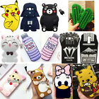 3D Cartoon Soft Silicone Case Phone Back Cover Skin Shell For Various Phones