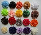 """sewing wrinkle Satin ribbon Fabric corsage hair Flowers 2"""" wedding 20color pick"""