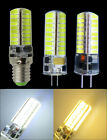 5W 72 5730SMD LED G4/GY6.35/E14 AC12V DC12-24V White/Warm Silicone Crystal light