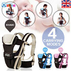 Ergonomic Breathable Baby Infant Adjustable Wrap Sling Newborn Backpack Carrier