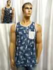 Vans Off The Wall skate mens DOWN UNDER chest pocket muscle tank top S M XL NEW