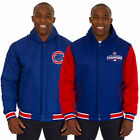 Chicago Cubs JH Design 3 Time World Series Champions Poly Fleece Revers. Jacket on Ebay