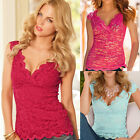 Fashion Women's Loose Casual Sleeveless Sexy Lace Shirt Blouse Ladies Tee Tops