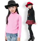 New winter kids Long Sleeve Shirts girls Knitting Sweaters Turtleneck Sweater