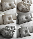 Diamante Cluster Filled Cushions In 3 Great Designs,Round,Square Or Boudoir