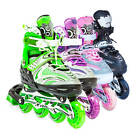 LED Roller Blades Kids Adjustable Inline Speed Skates Womens Size 5-7 US