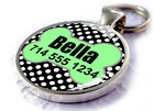 Polka Dots ID Pet Tags Personalized for Dogs and Cats Black