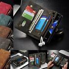 Genuine Leather Removable Wallet Flip Card Case Cover For Samsung Galaxy S7 Edge