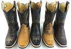 Men's Rodeo Cowboy Boots Genuine Leather Western Square Toe Boots
