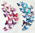 12pcs 3d Butterfly Wall Stickers Decals Home Decoration Shop Wedding Craft Art