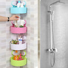 Bathroom Kitchen Plastic Shower Suction Cup Corner Shelf Storage Rack Organizer