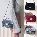 Women's Velvet Small Mini Single Shoulder Bag Chain Purse Handbag Crossbody Bag