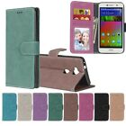 Leather Wallet Card Holder Stand Case For Alcatel Sony Motorola HTC