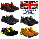 MENS SAFETY TRAINERS SHOES BOOTS WORK STEEL TOE CAP HIKER ANKLE