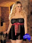 Black Sheer Lace Baby Doll