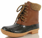 NATURE BREEZE DUCK-02 Women Duck Sherpa Lace Up Boots