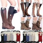 Lace Button Trim Boot Socks Cuffs Toppers Crochet Cable Knit Ankle Leg Warmers