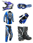 Kids MX Motocross Wulfsport 2017 ATTACK Pant Shirt Helmet Blue Mega Set #2