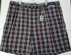 Harbor Bay Two Pleat Waist-Relaxer Mens Plaid Shorts NWT