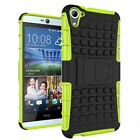 Rugged Shockprpoof Rubber Hard Impact Armor Case Cover Kickstand For HTC Series