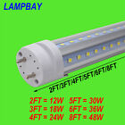 4-Pack LED Tube V shaped Bulb T8 G13 Light 2FT. 3FT. 4FT. 5FT. 6FT. 8FT. 85-277V