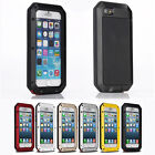 Shockproof Aluminum Gorilla Metal Glass Metal Case Cover for iPhone 5s 6S 7 Plus