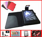 Leather Case Cover with LED Light for Amazon Kindle 8th Gen Touch Screen 2016.