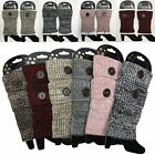 Women Crochet Knit Boot Socks Cuffs Toppers Short Ankle Leg Warmers With Button