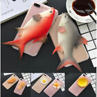 Funny 3D Fried Chicken Fish Egg Handmade Cover Case For Apple iPhone 6 7 Plus