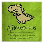 Childrens Personalised Dinosaur Canvas Picture.  Gift/Birthday. Son/Nephew.