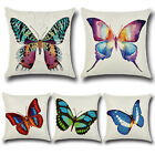Fashion Butterfly Printing Cotton Pillowcase Cushion Cover Home Sofa Car Decor