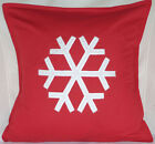 Snow Flake Merry Christmas Xmas gift Sofa Bed Car Home Decor red white cushion